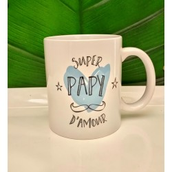 Mug en céramique Super Papy d'Amour, Label Tour
