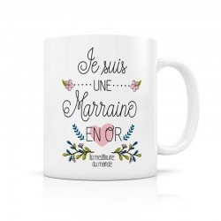 Mug Marraine en Or, Créa Bisontine