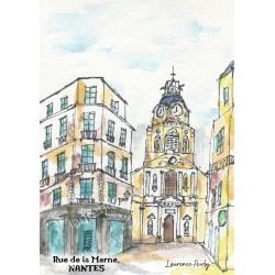 Aquarelle Rue de la Marne Nantes, Laurence Audy