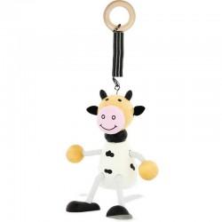 Ressort Vache en bois, Ulysse Couleurs d'enfance