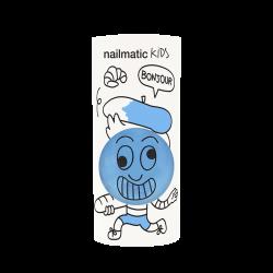 Vernis pour enfants Gaston bleu à base d'eau de chez Nailmatic
