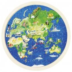 Puzzle globe terrestre, Goki